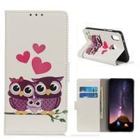 Patty PU kožené peněženkové puzdro na Xiaomi Redmi 7 - sovie rodinka