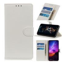 Litchi PU kožené peněženkové puzdro s textúrou na Xiaomi Redmi Go - biele