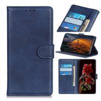 Matte PU kožené puzdro so stojanom na mobil Samsung Galaxy A80 / A90 - modré