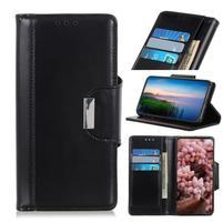 Stand elegantné PU kožené peněženkové púzdro pre mobil Samsung Galaxy A80 / A90 - čierne