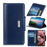 Stand elegantné PU kožené peněženkové púzdro pre mobil Samsung Galaxy A80 / A90 - tmavomodrej