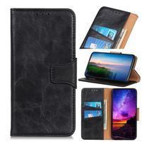 Horse PU kožené peněženkové puzdro na mobil Samsung Galaxy A80 / A90 - čierne