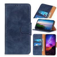 Horse PU kožené peněženkové puzdro na mobil Samsung Galaxy A80 / A90 - modré