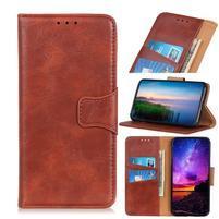 Horse PU kožené peněženkové puzdro na mobil Samsung Galaxy A80 / A90 - hnedé