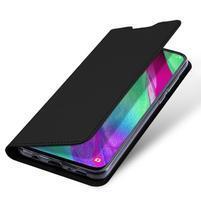 DUX PU kožené puzdro na Samsung Galaxy A40 - čierne