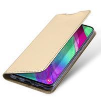 DUX PU kožené puzdro na Samsung Galaxy A40 - zlaté