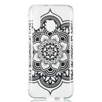 Printy silikónový obal na Samsung Galaxy A40 - čierna kvetina