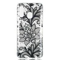 Printy silikónový obal na Samsung Galaxy A40 - kvetina čipka