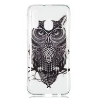 Printy silikónový obal na Samsung Galaxy A40 - čierna sova