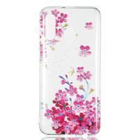 Printy silikónový obal na Samsung Galaxy A40 - ružové kvety
