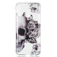 Printy silikónový obal na Samsung Galaxy A40 - lebka