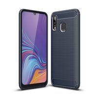 Carbon gélový odolný obal na Samsung Galaxy A40 - modrý