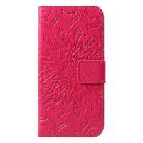 Mandala PU kožené peňaženkové puzdro pre Samsung Galaxy S10 - rose