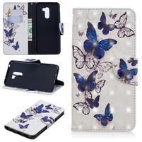 Patt PU kožené peňaženkové puzdro na mobil Xiaomi Pocophone F1 - krásní motýľi