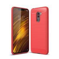 Carb odolný gélový kryt na Xiaomi Pocophone F1 - červený
