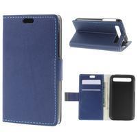 Peňaženkové puzdro pre mobil BlackBerry Classic - modré
