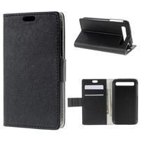 Peňaženkové puzdro pre mobil BlackBerry Classic - čierne