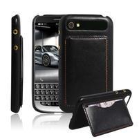 PU kožený kryt se stojánkem na BlackBerry Classic - černé