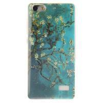 Gélový obal pre mobil Honor 4C - kvitnúci strom