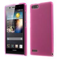 Matné gélové puzdro na Huawei Ascned G6 - rosa