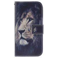 Peňaženkové puzdro pre mobil LG K10 - lev