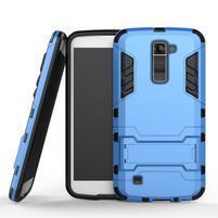 Odolný kryt na mobil LG K10 - světlemodrý