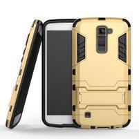 Odolný kryt pre mobil LG K10 - zlatý