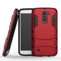 Odolný kryt pre mobil LG K10 - červený