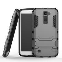 Odolný kryt pre mobil LG K10 - sivý