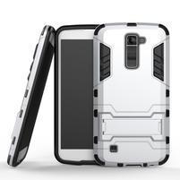 Odolný kryt pre mobil LG K10 - strieborny