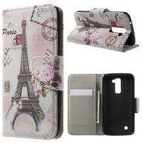 Wall peňaženkové puzdro pre LG K10 - Eiffelova veža