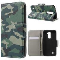 Wall peňaženkové puzdro pre LG K10 - kamufláž