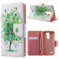 Wall peňaženkové puzdro pre LG K10 - strom