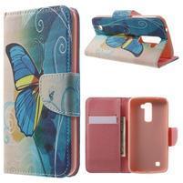 Wall peňaženkové puzdro pre LG K10 - motýľ