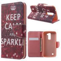Wall peňaženkové puzdro pre LG K10 - Keep Calm