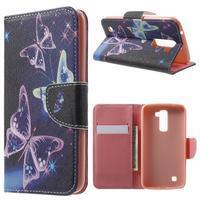 Wall peňaženkové puzdro pre LG K10 - kouzelní motýľe