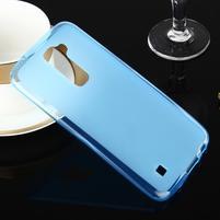 Stter matný gélový obal pre mobil LG K10 - modrý