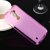 Stter matný gelový obal na mobil LG K10 - růžový