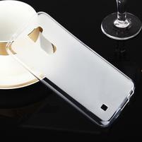 Stter matný gélový obal pre mobil LG K10 - biely