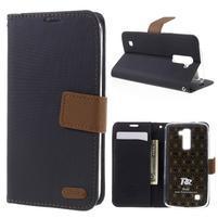 Style PU kožené pouzdro pro LG K10 - černé