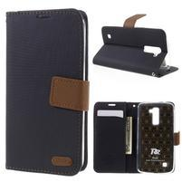 Style PU kožené puzdro pro LG K10 - čierne