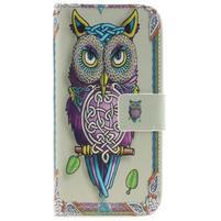 Peňaženkové puzdro pre mobil LG K10 - sova