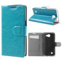 Horse PU kožené puzdro pre mobil LG K4 - modré