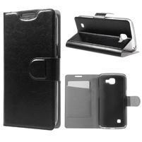 Horse PU kožené puzdro pre mobil LG K4 - čierne