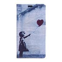 Style peňaženkové puzdro pre LG K4 - dievčatko