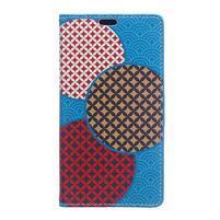 Style peňaženkové puzdro pre LG K4 - kruhy