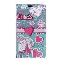 Style peňaženkové puzdro pre LG K4 - srdce