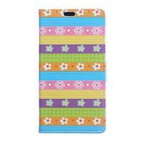 Style peňaženkové puzdro pre LG K4 - farebné kvetiny