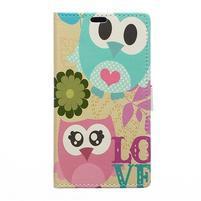 Style peňaženkové puzdro pre LG K4 - zamilované malej sovy