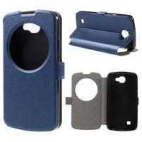 Trend pouzdro s okýnkem na mobil LG K4 - modré